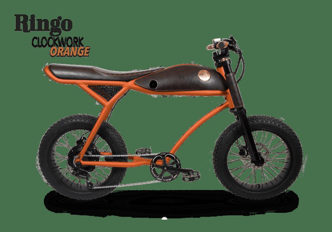 Rayvolt Retro Electric Fat Bike Vintage Ringo Orange 380Wh