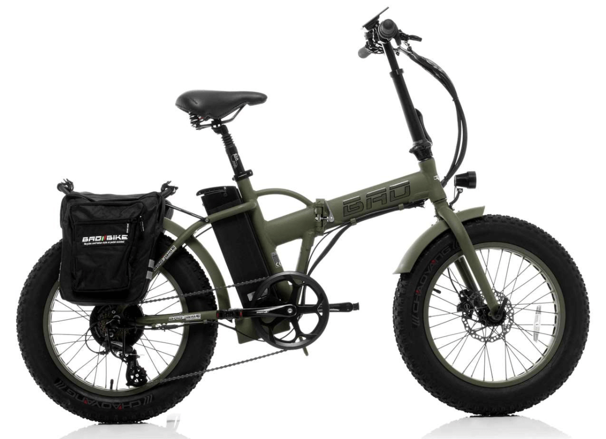 Folding Electric Bike with fat wheels BAD 250W Green