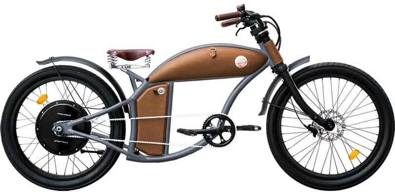 Rayvolt E Bike chopper Cruzer 45km/hr Grey L 550Wh
