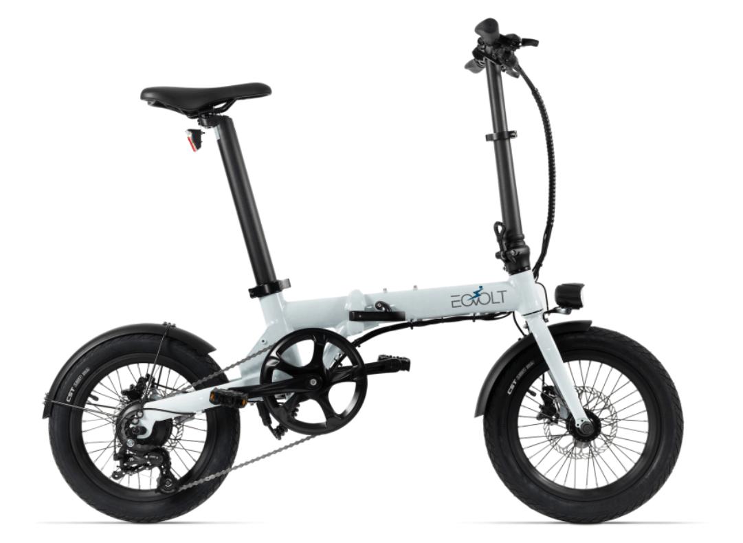 Electric Folding Bike EOVOLT City 4 Speed White