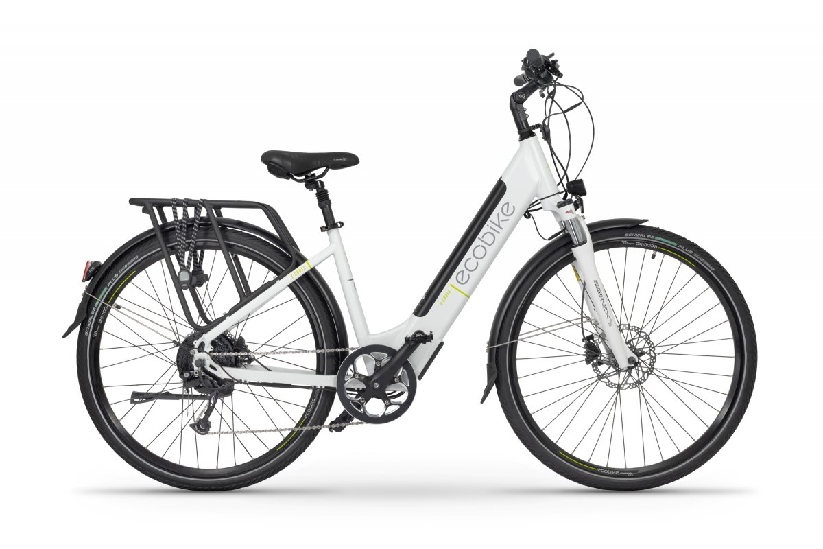 Electric Ladies Bike 28 inch with front suspension Ecobike X-cross White 468Wh