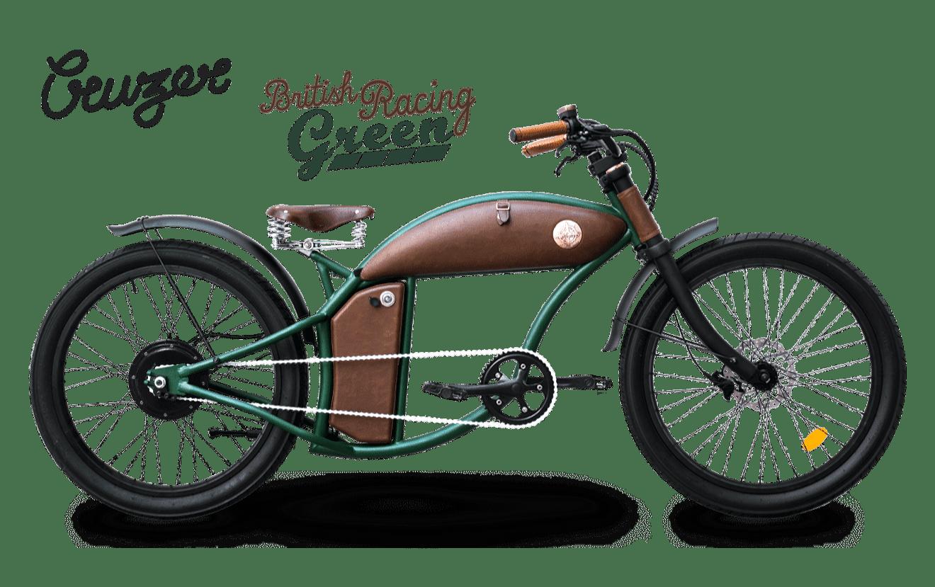 Rayvolt E Bike chopper Cruzer 45km/hr Green M 550Wh