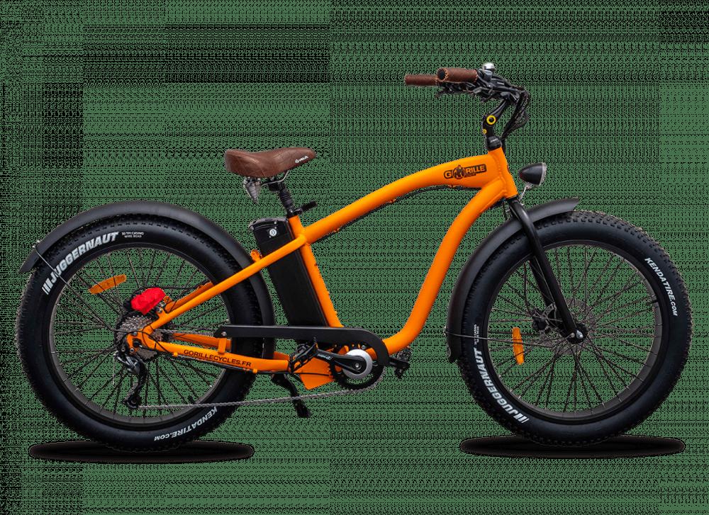 Electric Fat Bike Beach Cruiser Gorille 45km/hr 1000Wh Orange