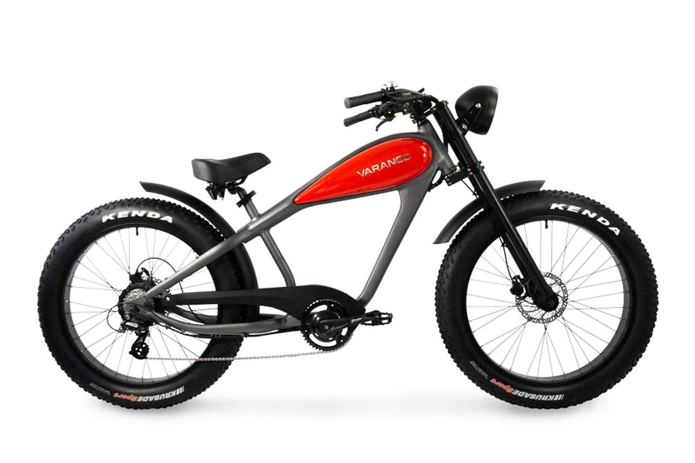 Electric Chopper Bike Fat Bike Varaneo Cafe Racer Red