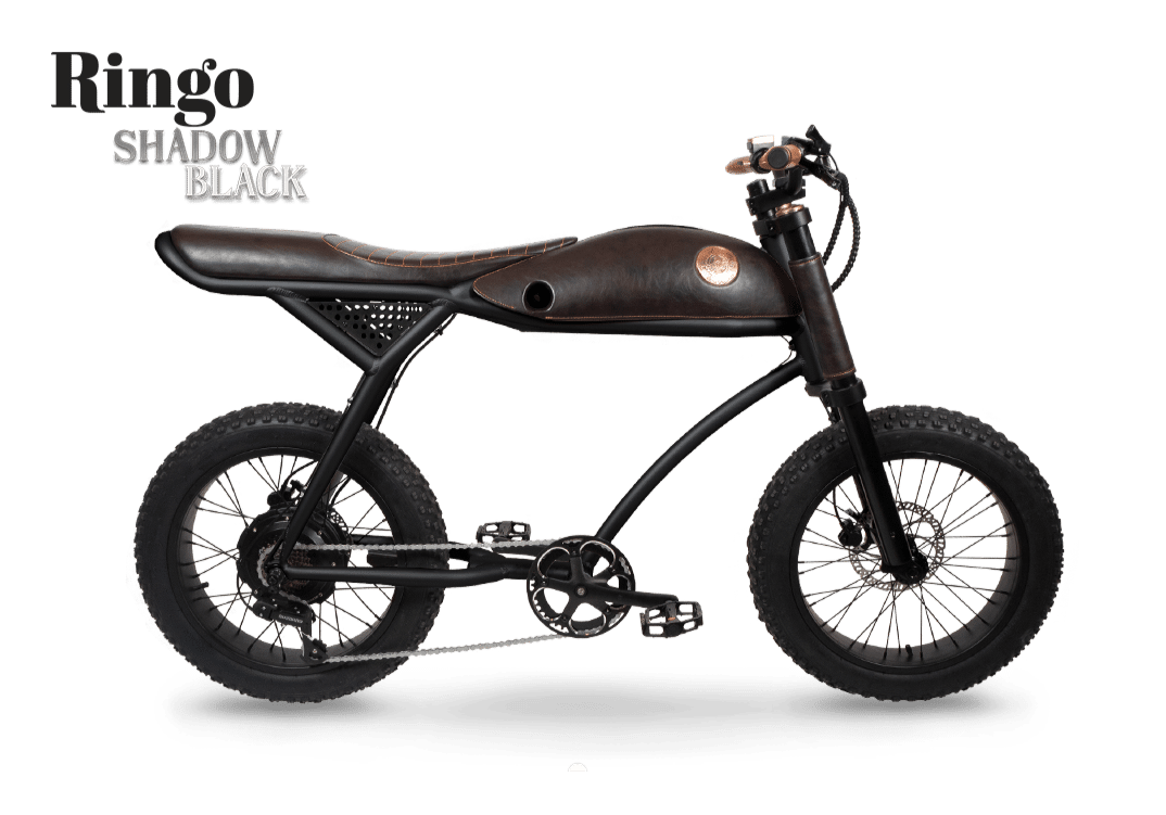 Rayvolt Retro Electric Fat Bike Vintage Ringo Black 594Wh