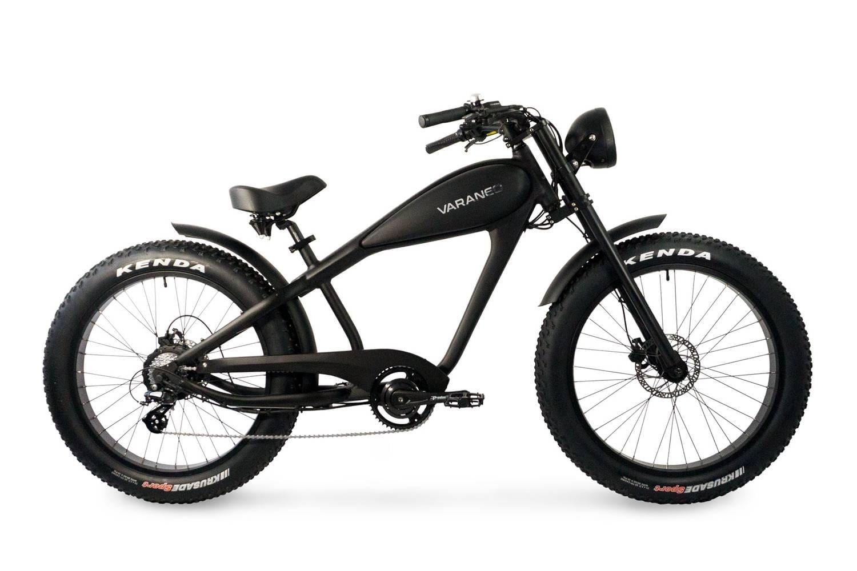 Electric Chopper Bike Fat Bike Varaneo Cafe Racer Black Matt