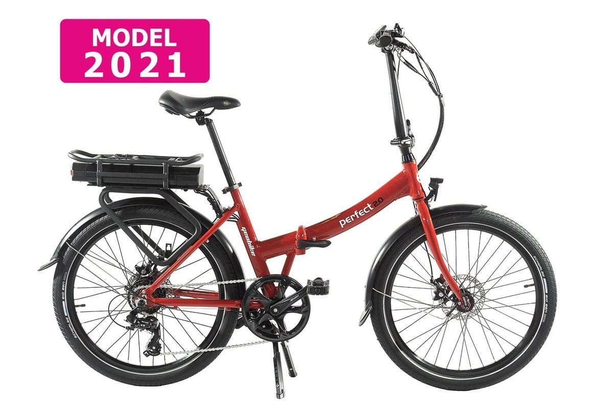 Geobike Smart Folding low step electric bike Perfect 2.0 Red 374Wh
