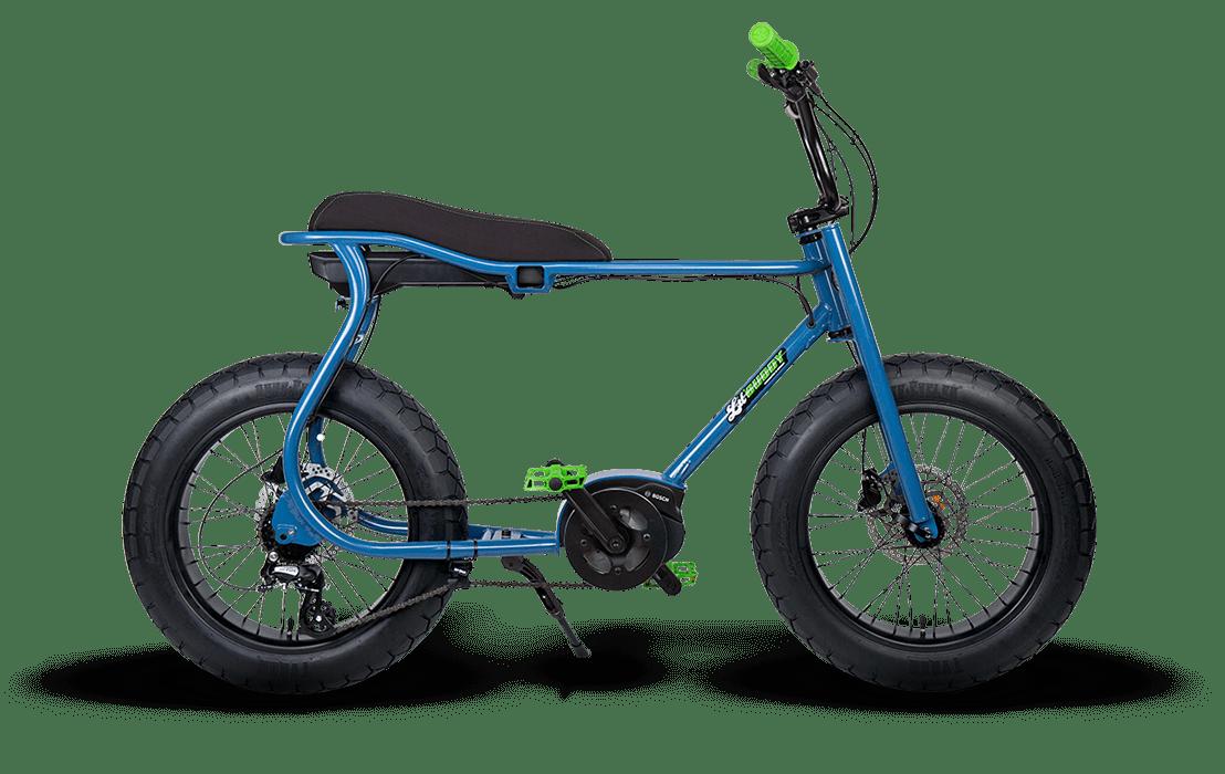 Ruff Cycles Retro Electric Fat Bike Bosch Mid Drive Lil'Buddy 300Wh CX Blue