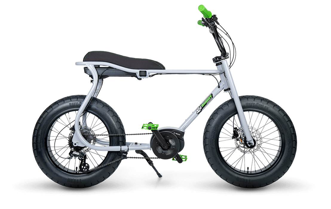 Ruff Cycles Retro Electric Fat Bike Bosch Mid Drive Lil'Buddy 300Wh CX Grey