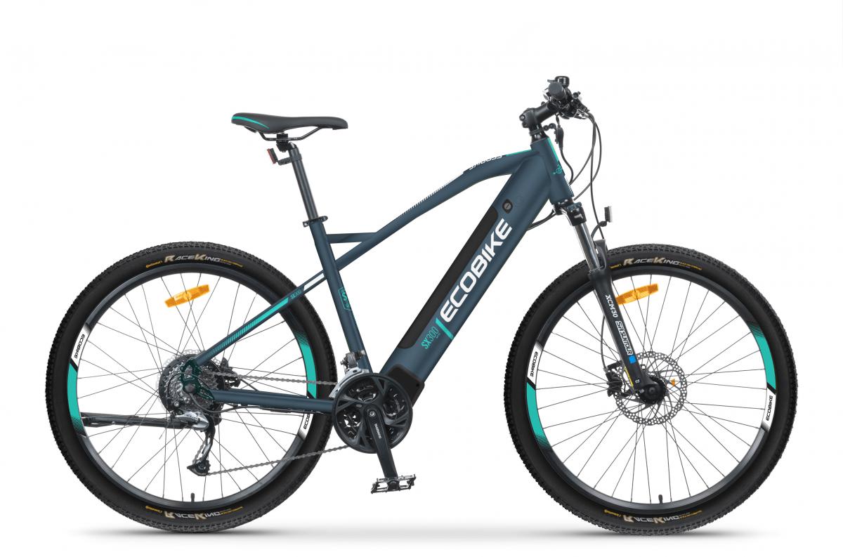 Electric Mountain Bike Mid Drive Speed Pedelec 45km/h Ecobike SX300 Blue 500Wh