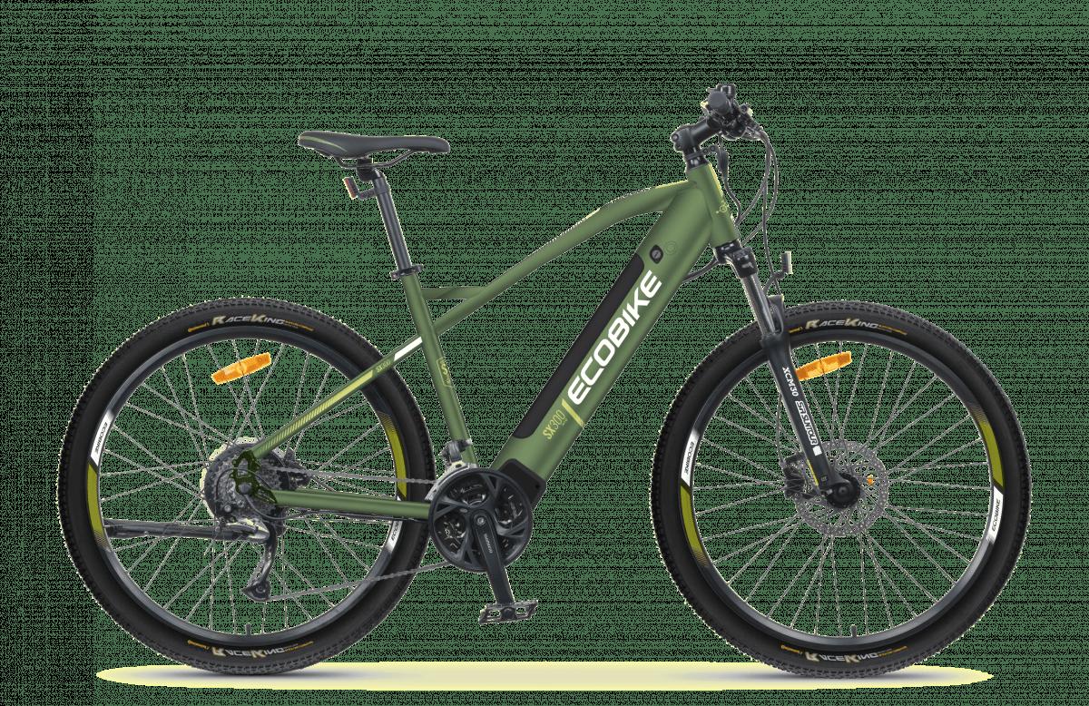 Electric Mountain Bike Mid Drive Speed Pedelec 45km/h Ecobike SX300 Green 500Wh