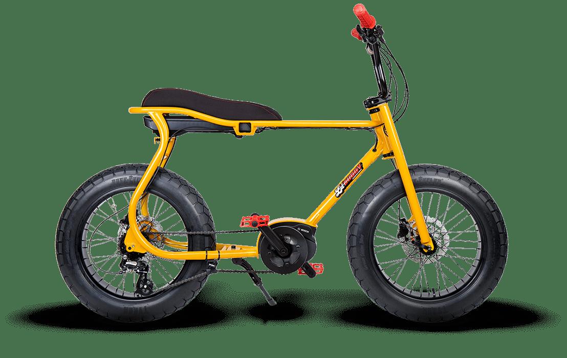 Ruff Cycles Retro Electric Fat Bike Bosch Mid Drive Lil'Buddy 500Wh Yellow