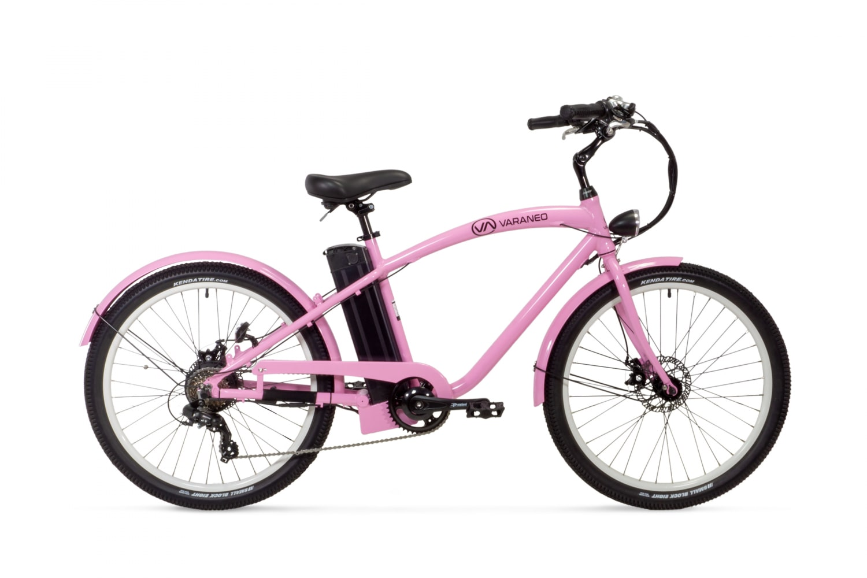 Electric Cruiser Bike Varaneo Beachcruiser Pink