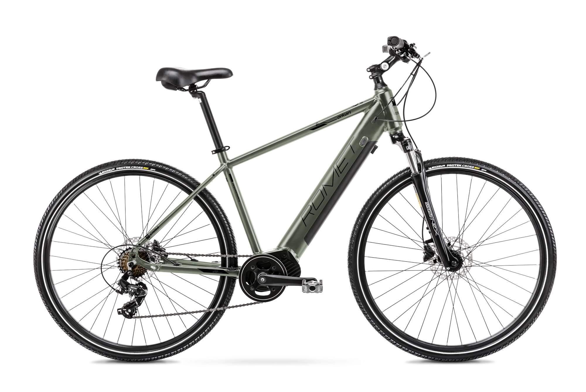 Mens Electric Hybrid Bike Mid Drive 28 Inch Romet Orkan 1M 20Inch Green