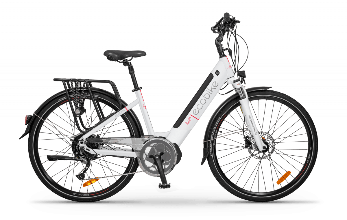 Electric Ladies bike Mid drive Speed Pedelec 45km/h Ecobike LX300 White 500Wh