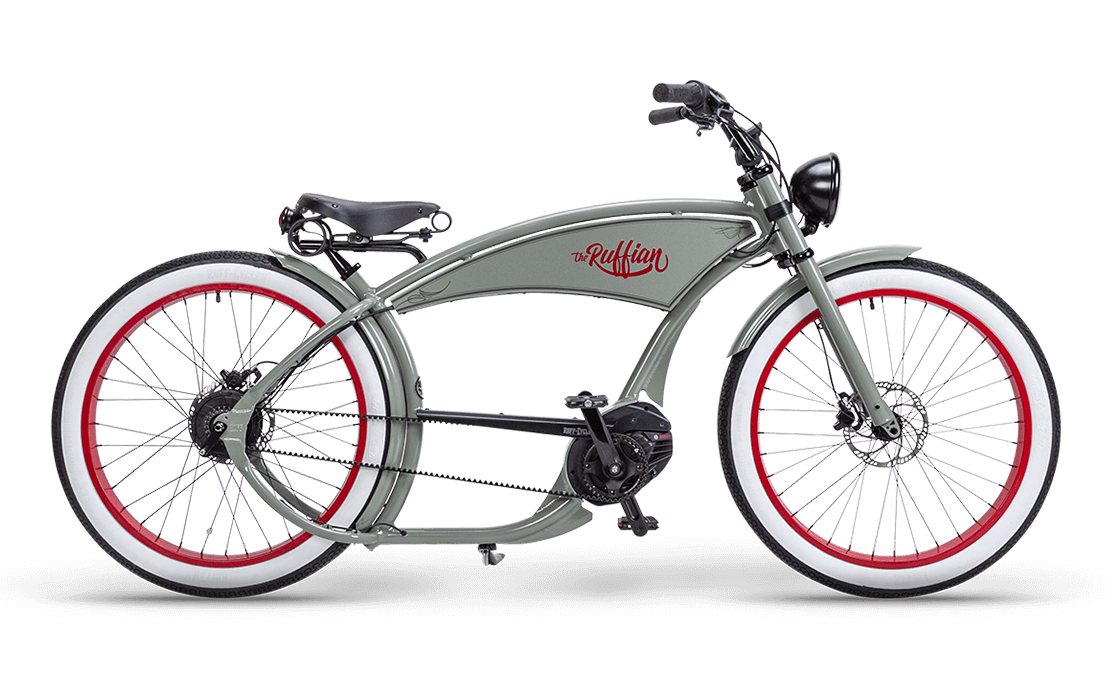 Ruff Cycles Ruffian Electric Chopper Bike Bosch Mid Drive 500Wh Grey