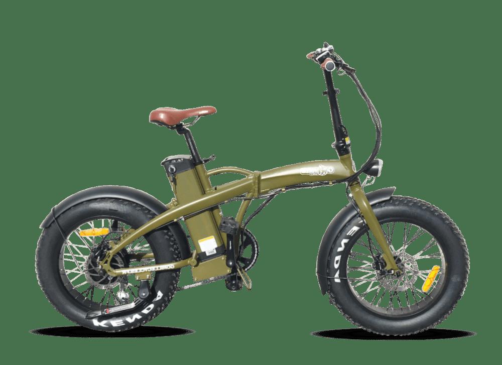 "Electric Folding Fat Bike Gorille Baby 20"" 880Wh Green 25km/hr"