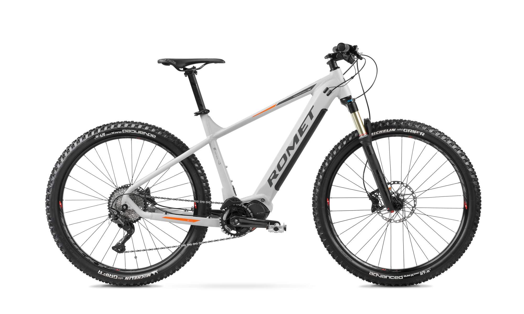 Electric Mountain Bike Mid Drive 27.5 Inch Romet ERM205 19Inch White