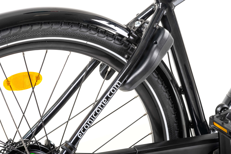 Electric Hybrid Bike Econic One Urban Smart L 48cm Black