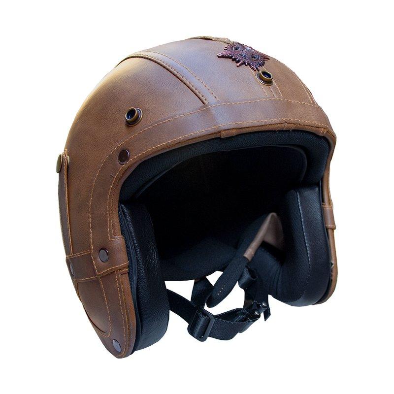 Rayvolt leather helmet jethelmet
