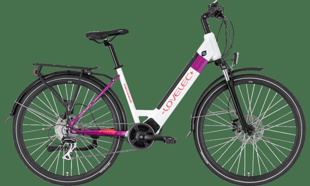 "Ladies Electric Bike Mid Drive 28 Inch Lovelec Triago white 18"" 16ah"
