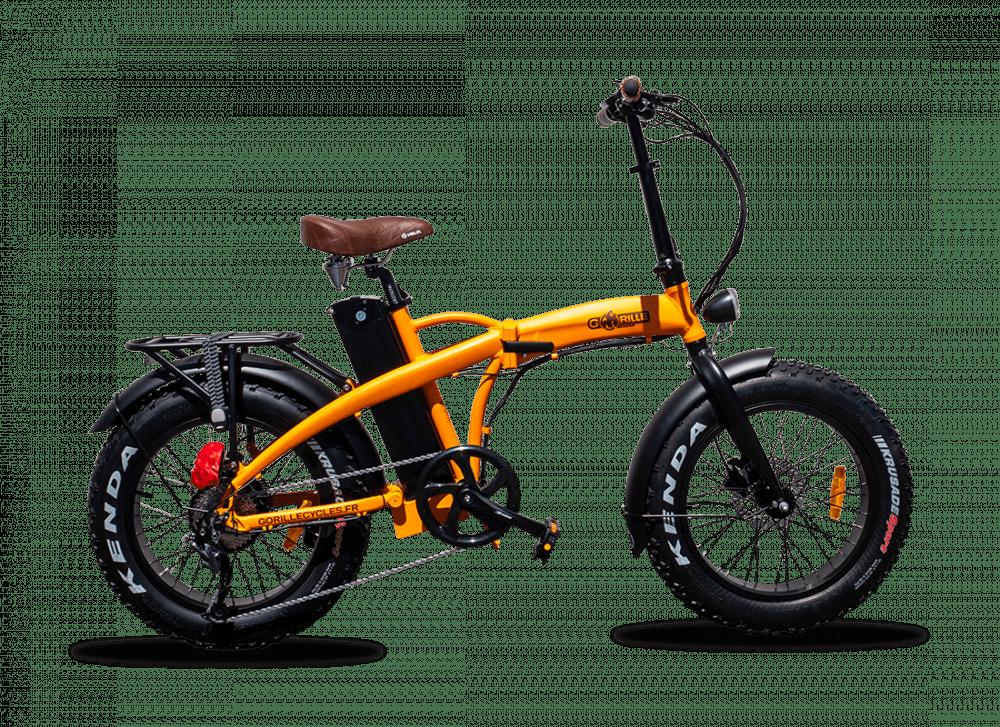 "Electric Folding Fat Bike Gorille Baby 20"" 730Wh Orange 25km/hr"