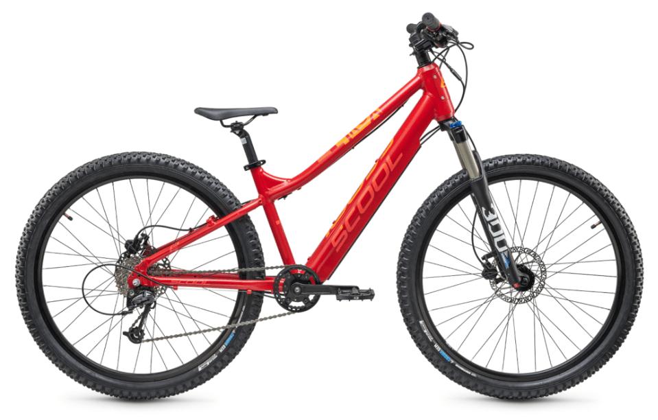 "kids electric bike S'cool e-troX 24"" 9S Alivio Red"