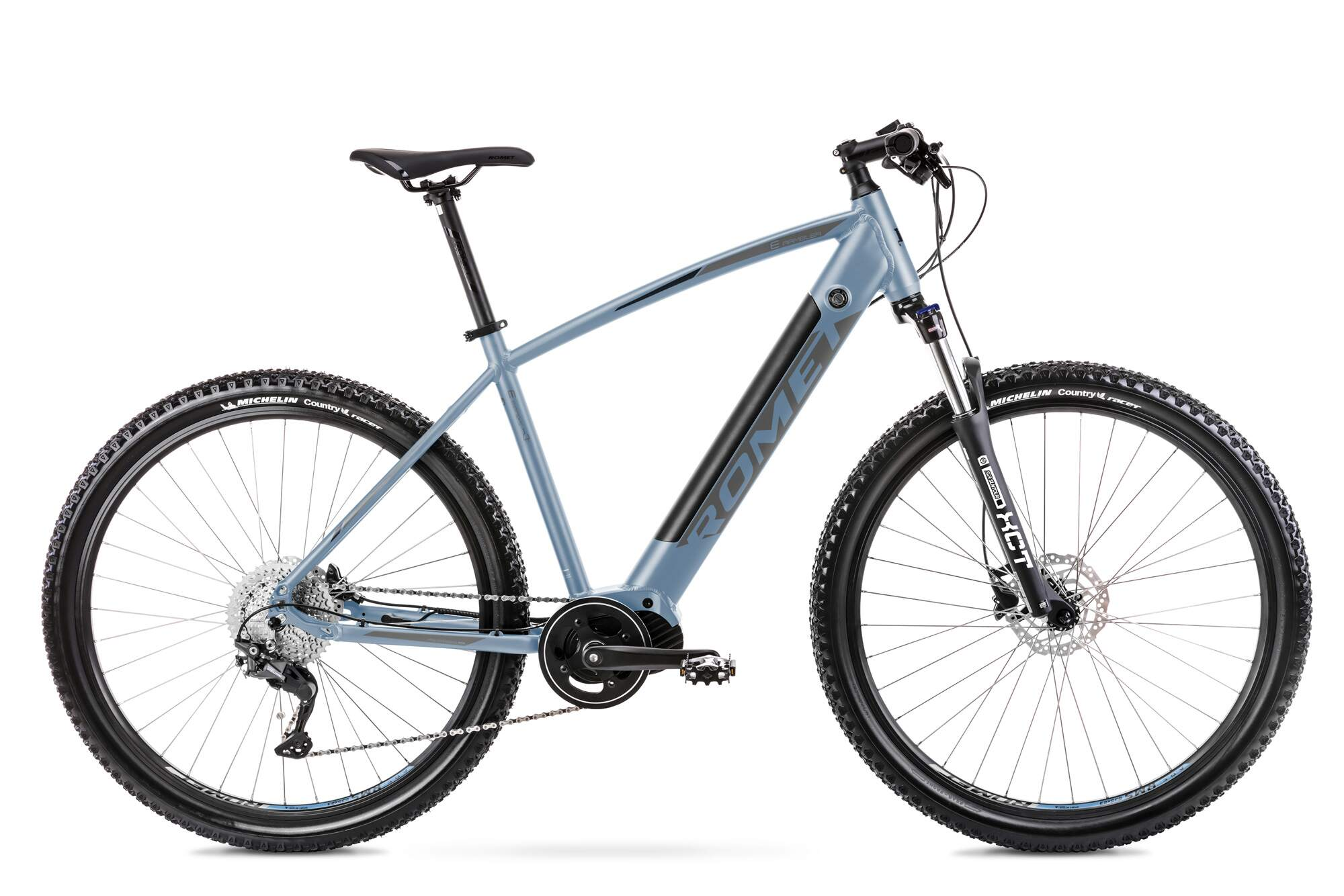 Electric Mountain Bike Mid Drive 29 Inch Romet E-Rambler 20Inch Blue