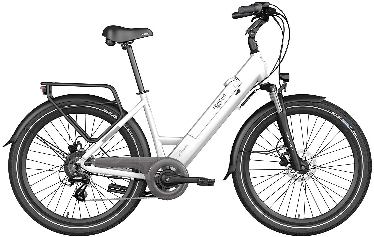 Smart Ladies Electric Bike Legend Milano Standard Battery 10.4ah White