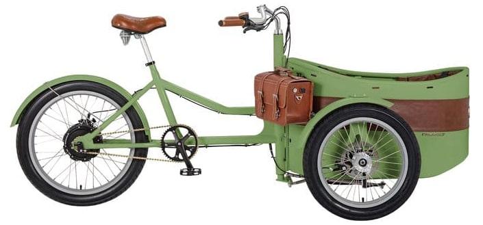 Rayvolt electric cargo bike Trixie Green 500Wh