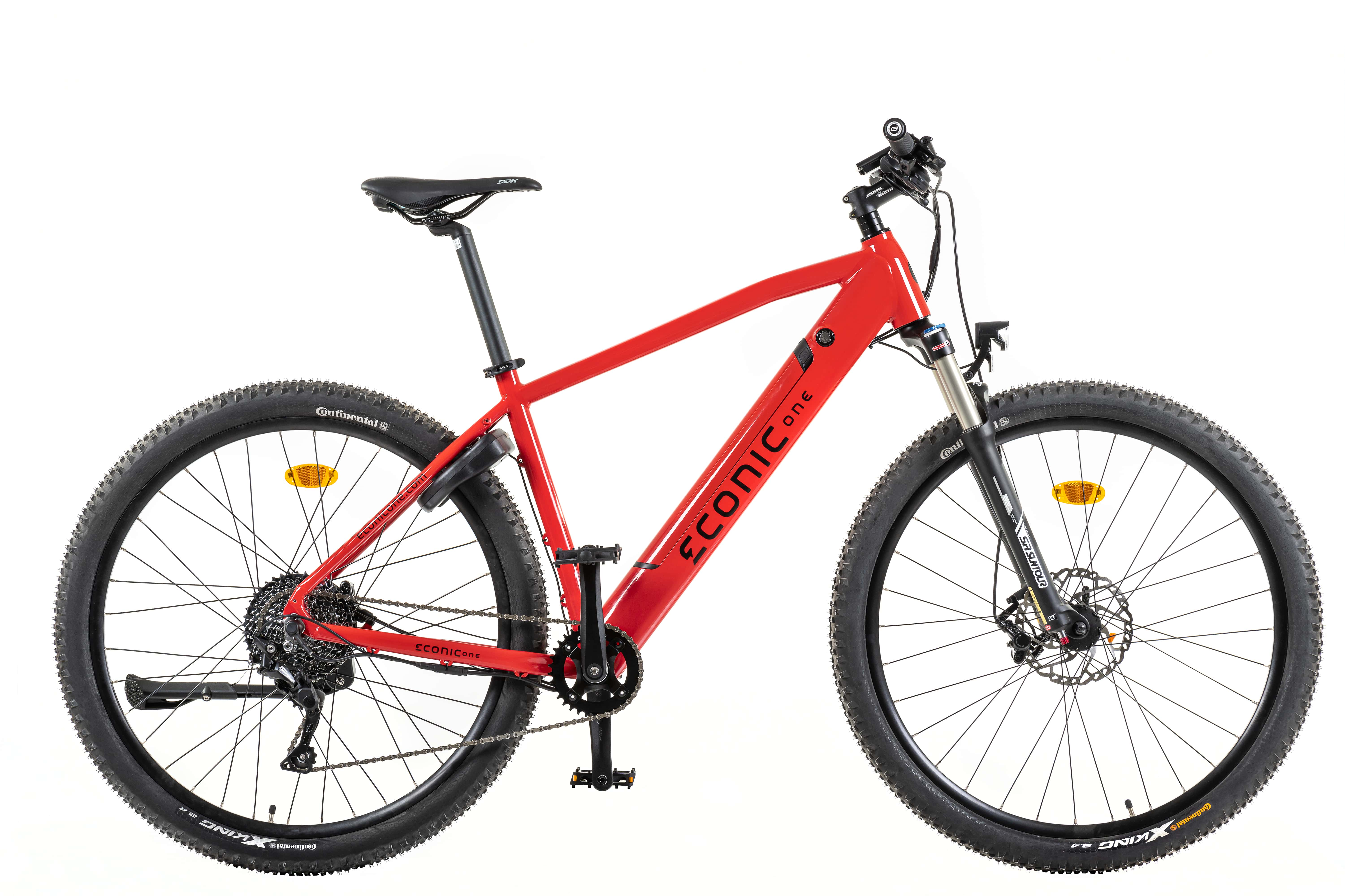 Electric Hybrid Bike Econic One Cross-country Smart M 44cm Red