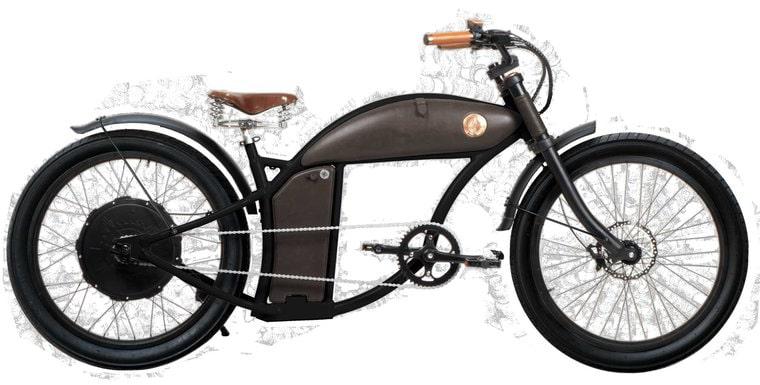 Rayvolt E Bike Chopper Cruzer 25km/hr Black M 1100Wh