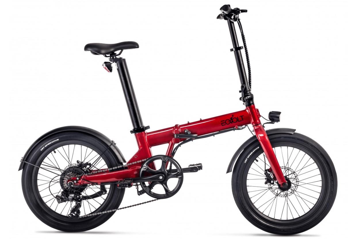 Electric Folding Bike 20 inch EOVOLT Comfort Red