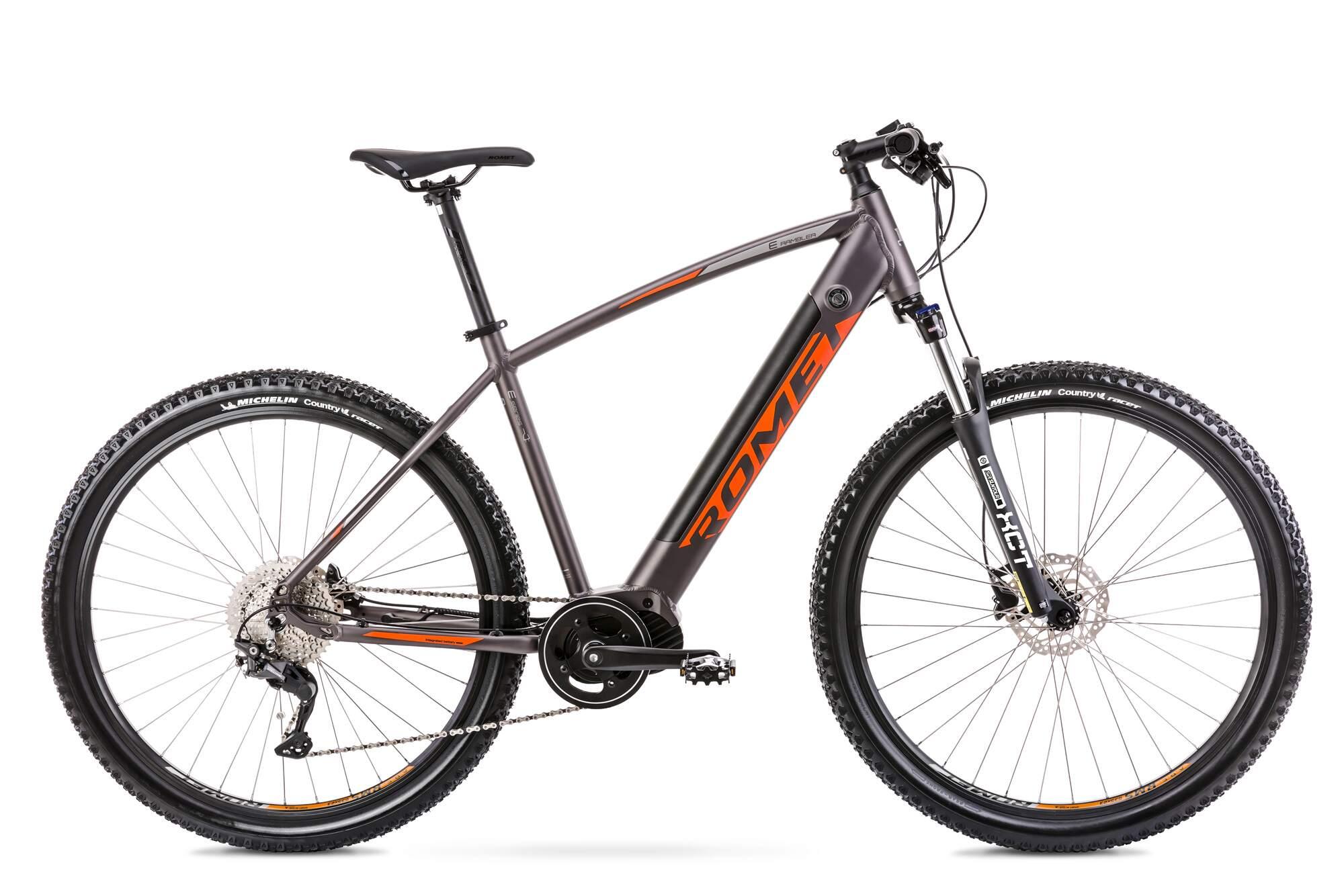 Electric Mountain Bike Mid Drive 29 Inch Romet E-Rambler 18Inch Aluminium