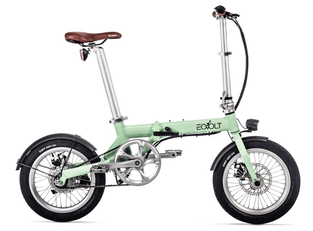 Electric Folding Bike EOVOLT City 4 Speed Green