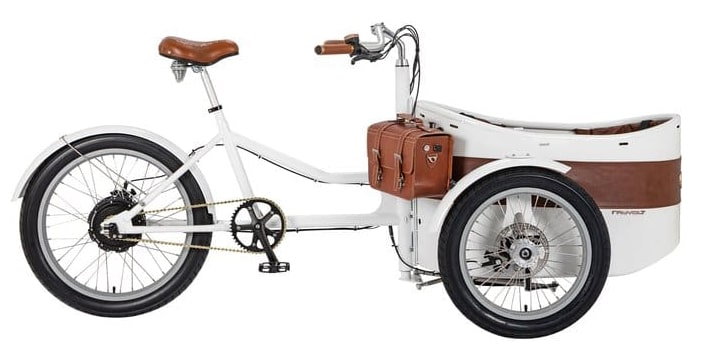 Rayvolt electric cargo bike Trixie White 500Wh