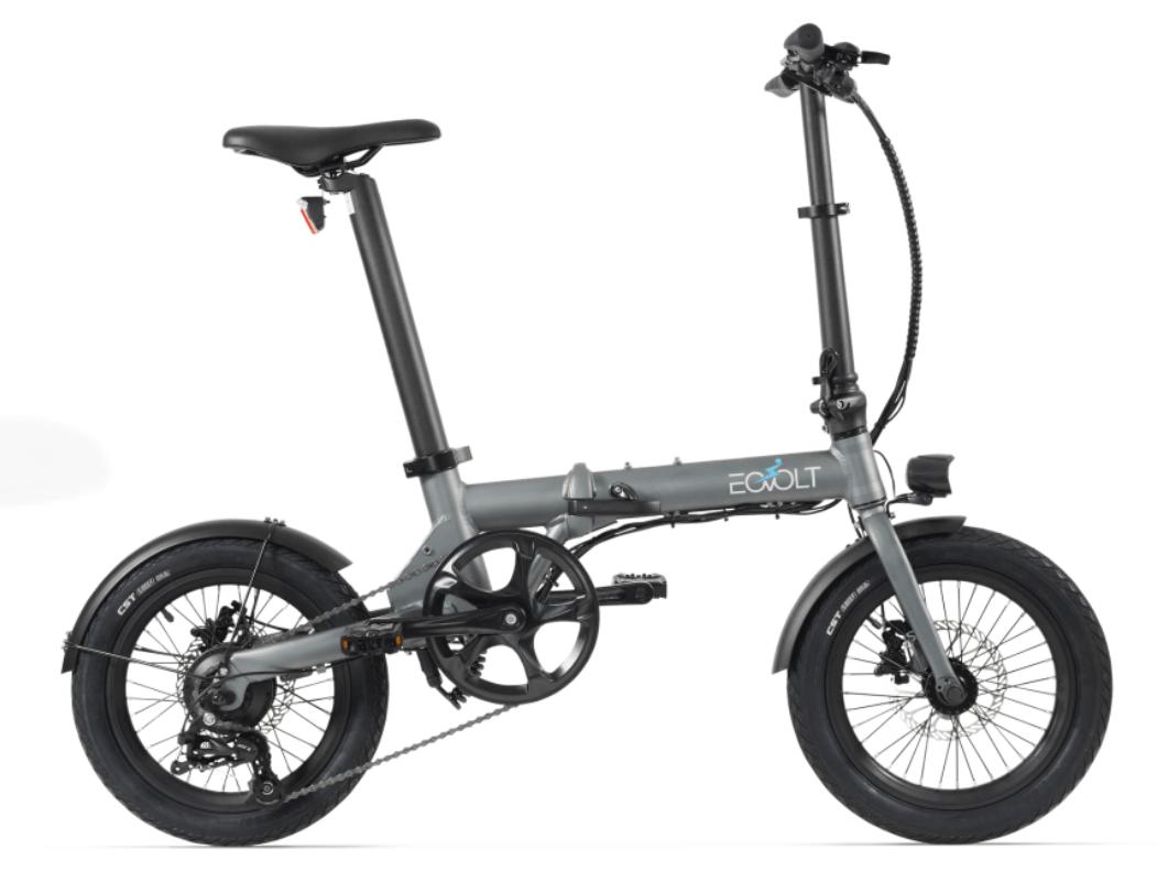 Electric Folding Bike EOVOLT City 4 Speed Grey