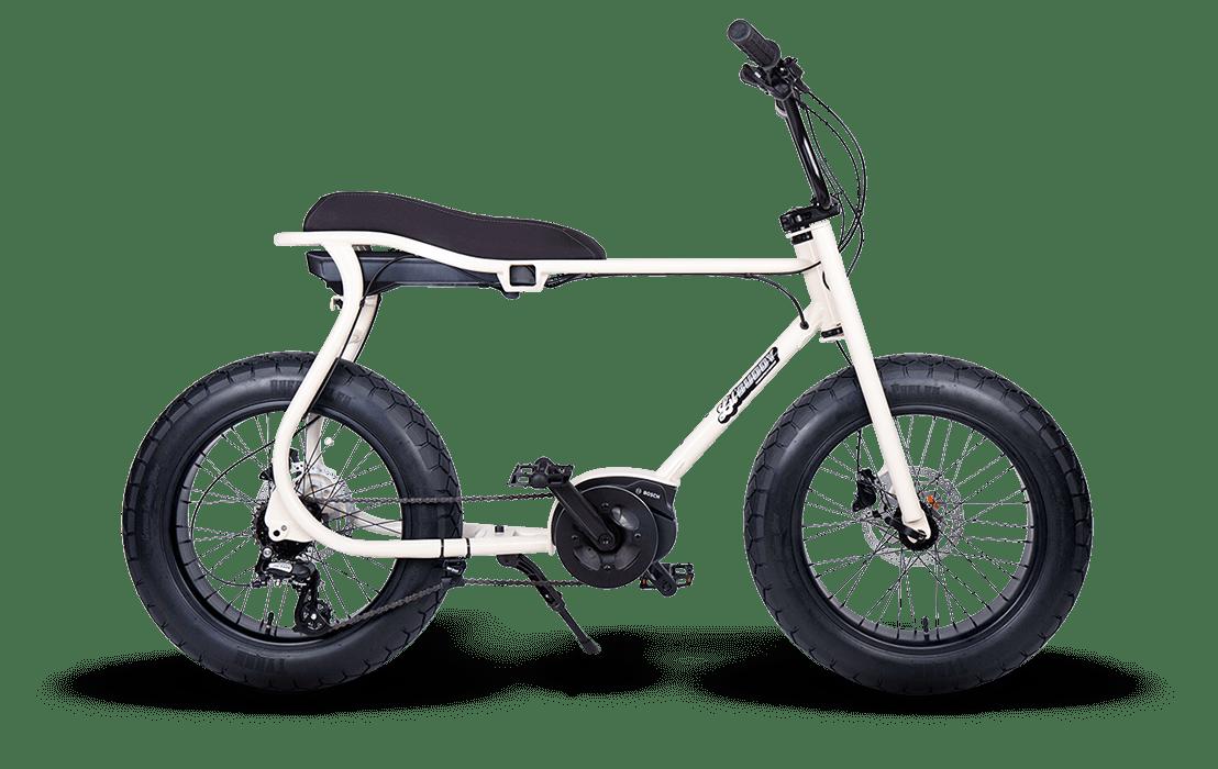 Ruff Cycles Retro Electric Fat Bike Bosch Mid Drive Lil'Buddy 500Wh White