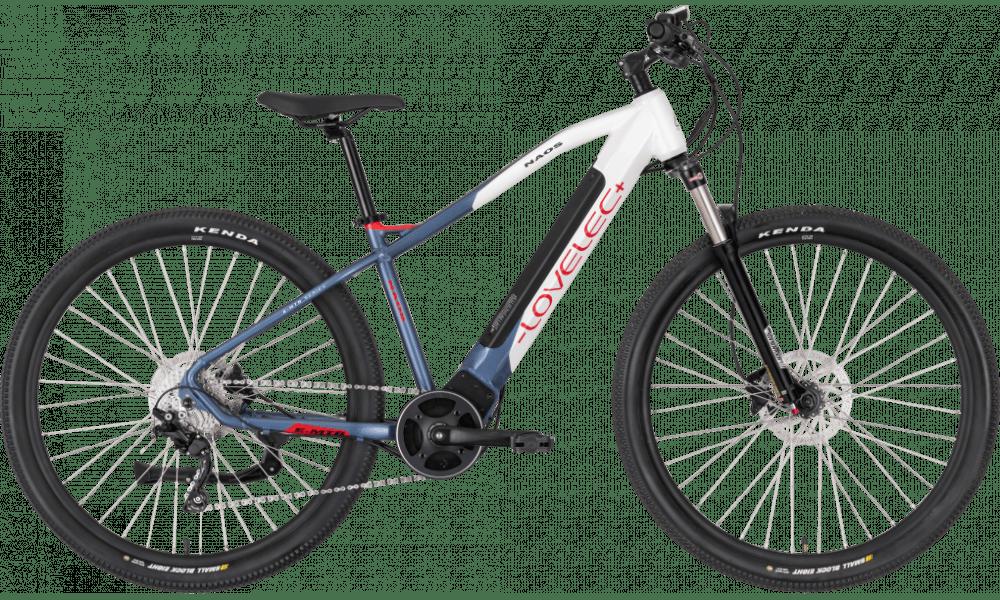 "Electric Mountain Bike Mid Drive 29 Inch Lovelec Naos White 540Wh 17"""