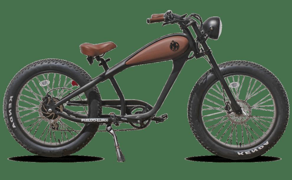Electric Fatbike Chopper Gorille Retro 250W Black