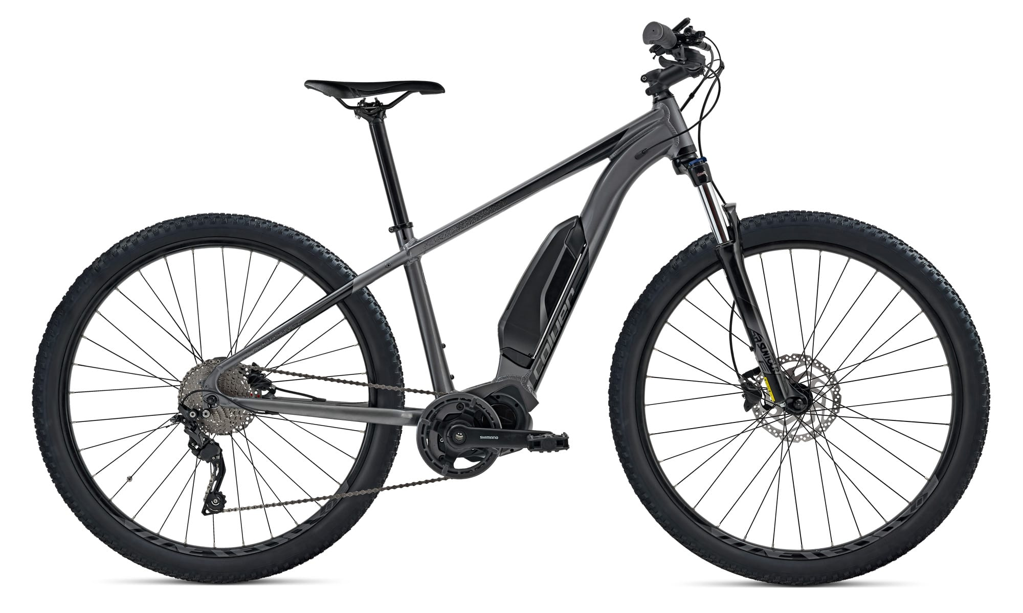 Mid Drive Electric Hybrid Bike Coluer Quickvolt Grey