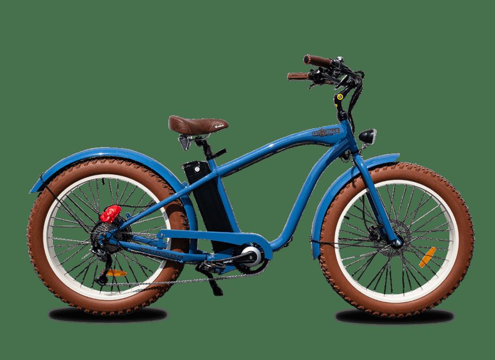 Electric Fat Bike Beach Cruiser Gorille 730Wh Blue