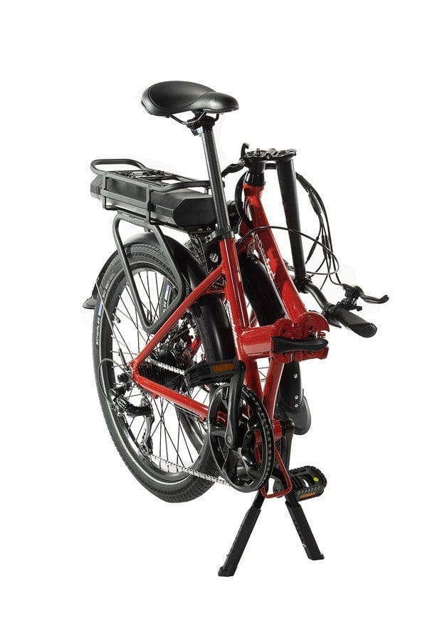 Smart 24 Inch Folding Electric Bike step through and integrated display Perfect 2.0 Red 374Wh