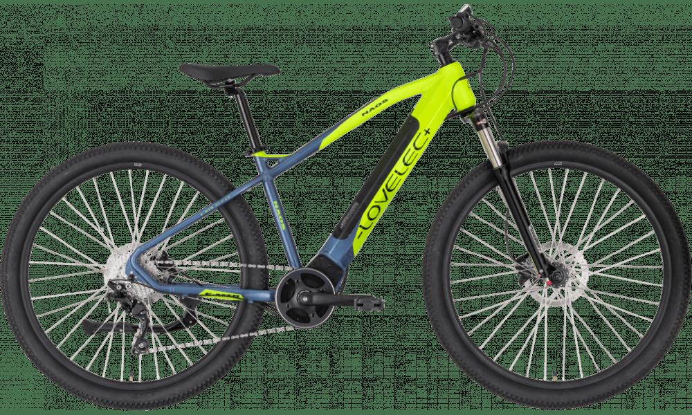 "Electric Mountain Bike Mid Drive 29 Inch Lovelec Naos Yellow 720Wh 17"""
