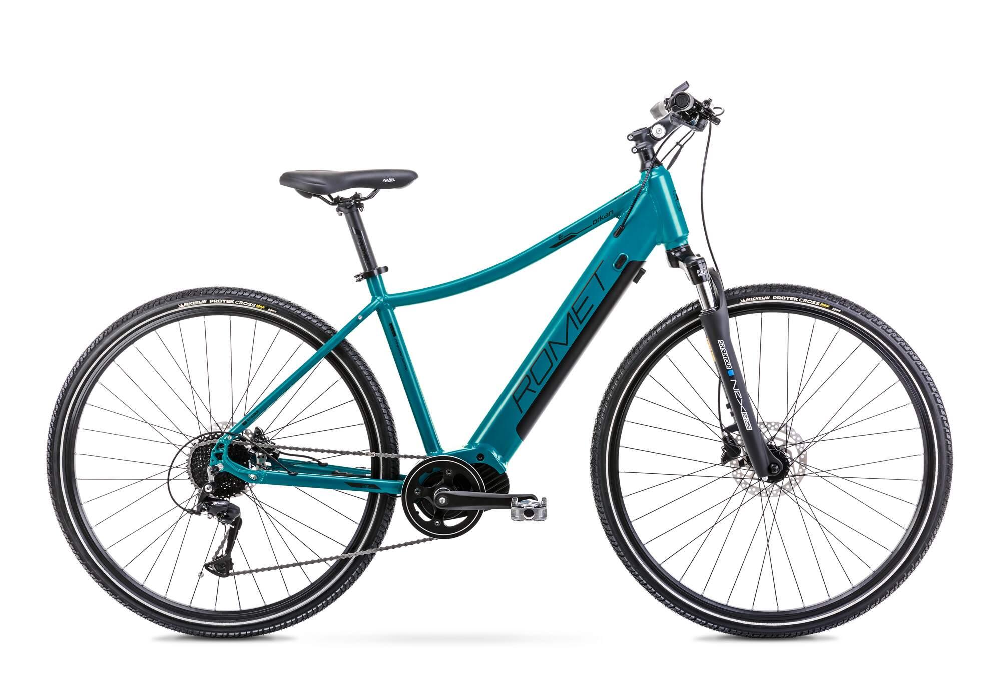Mens Electric Hybrid Bike Mid Drive 28 Inch Romet Orkan 2D 20Inch Blue