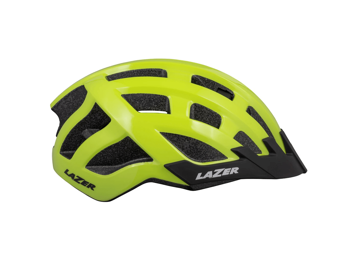 Lazer Compact DLX helmet with LED yellow