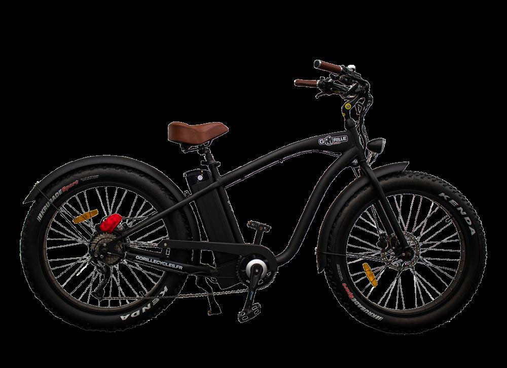 Electric Fat Bike Beach Cruiser Gorille 45km/hr 1000Wh Black
