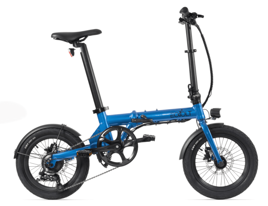 Electric Folding Bike EOVOLT City 4 Speed Blue