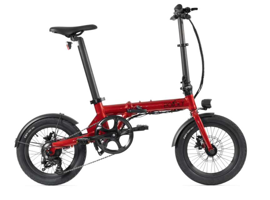 Electric Folding Bike EOVOLT City 4 Speed Red