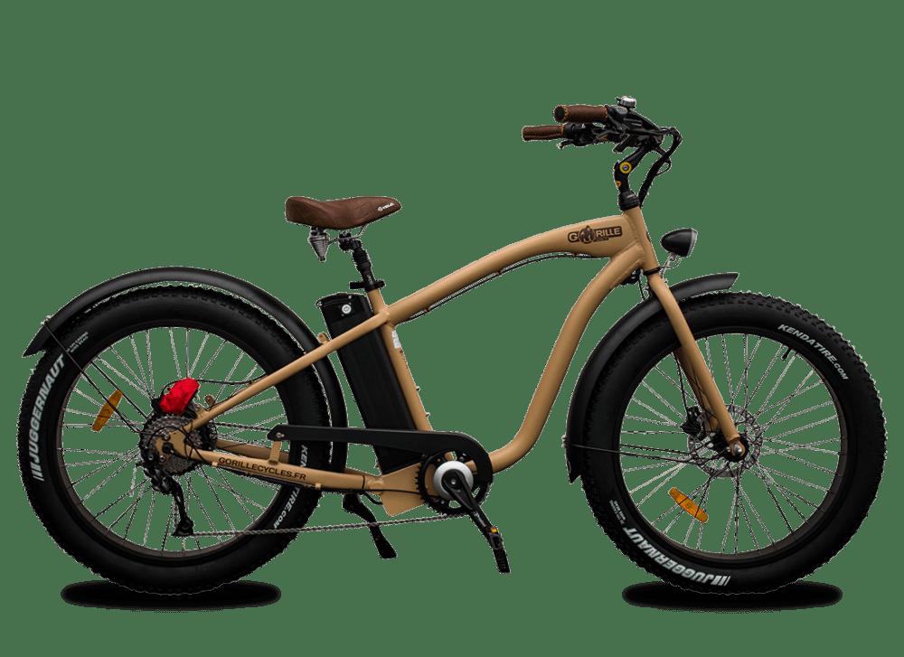 Electric Fat Bike Beach Cruiser Gorille 45km/hr 1000Wh Gold